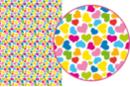 Magic Paper Cœurs multicolores - Washi paper / Magic paper - 10doigts.fr
