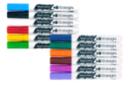 Marqueurs peinture - 12 couleurs assorties - Peinture Verre et Faïence 14726 - 10doigts.fr