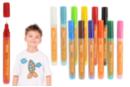 Marqueurs peinture textiles - Set de 12 couleurs (base + complémentaire) - Marqueurs peintures 14864 - 10doigts.fr