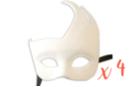 """Masque vénitien forme """"asymétrique"""" - Lot de 4 - Masques 13808 - 10doigts.fr"""
