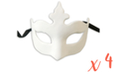 """Masque vénitien forme """"couronne"""" - Lot de 4  - Masques 13810 - 10doigts.fr"""