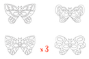 Masques papillons - Lot de 3 sets de 4  - Mardi gras, carnaval 12845 - 10doigts.fr