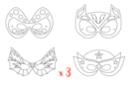 Masques super héros - Lot de 3 sets de 4 - Mardi gras, carnaval 12847 - 10doigts.fr