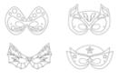 Masques super héros - Set de 4 - Mardi gras, carnaval 12846 - 10doigts.fr