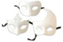 Masques vénitiens en papier blanc - 3 modèles - Masques 13892 - 10doigts.fr