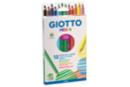 Maxi crayons de couleur GIOTTO Méga - 12 crayons - Crayons de couleurs 04431 - 10doigts.fr