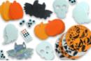 Mega pack formes d'Halloween mousse - Décorations à coller 36228 - 10doigts.fr
