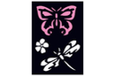 Pochoir adhésif 10 x 7 cm - libellule - Pochoirs Adhésifs 13500 - 10doigts.fr