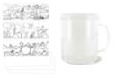 Mug à décorer - Plastique Transparent 11556 - 10doigts.fr