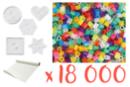Kit perles translucides - 18 000  perles + 5 plaques + 1 rouleau de papier sulfurisé - Kits activités clés en main 15291 - 10doigts.fr