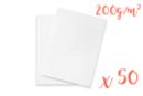 Ramette de papier blanc A4 200 gr - 50 feuilles  - Ramettes de papiers - 10doigts.fr