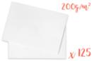 Papier blanc 200 gr 50 x 65 cm - 125 feuilles - Papiers pour peinture 05730 - 10doigts.fr
