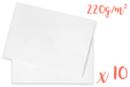 Cartes médiums 220 gr  (50 x 70 cm) Blanc - 10 feuilles - Ramettes de papiers 14220 - 10doigts.fr