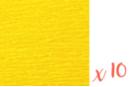 Papier crépon jaune 2 m x 50 cm - Lot de 10 feuilles - Papiers de crépon 06037 - 10doigts.fr