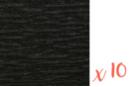 Papier crépon noir 2 m x 50 cm - Lot de 10 feuilles - Papiers de crépon 06039 - 10doigts.fr