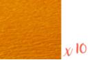 Papier crépon orange 2 m x 50 cm - Lot de 10 feuilles - Papiers de crépon 06040 - 10doigts.fr
