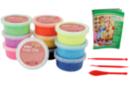 Pâte à modeler Foam Clay couleurs vives assorties - Lot de 10 pots de 38,5 gr - Pâtes à jouer 16190 - 10doigts.fr