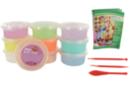 Pâte à modeler Soft Clay couleurs pastels assorties - Set de 10 pots 40 gr - Pâtes à modeler qui sèchent à l'air - 10doigts.fr