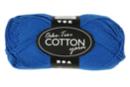 Pelote extra qualité 100% coton - bleu - Laine 44282 - 10doigts.fr