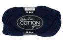 Pelote extra qualité 100% coton - bleu foncé - Laine 44284 - 10doigts.fr