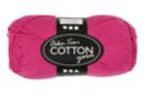 Pelote extra qualité 100% coton - fuchsia - Laine 44277 - 10doigts.fr