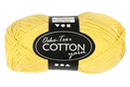 Pelote extra qualité 100% coton - jaune - Laine 44272 - 10doigts.fr