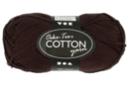Pelote extra qualité 100% coton - marron - Laine 44287 - 10doigts.fr