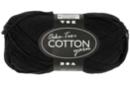 Pelote extra qualité 100% coton - noir - Laine 44289 - 10doigts.fr