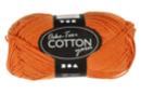 Pelote extra qualité 100% coton - orange - Laine 44274 - 10doigts.fr