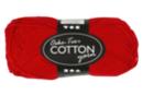 Pelote extra qualité 100% coton - rouge - Laine 44275 - 10doigts.fr