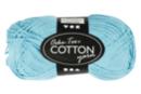 Pelote extra qualité 100% coton - turquoise - Laine 44283 - 10doigts.fr