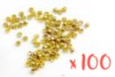 Perles à écraser couleur or - 100 perles - Perles à écraser 02338 - 10doigts.fr