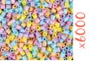 Perles fusibles pastel - 6000 perles - Perles Fusibles 5 mm 16155 - 10doigts.fr