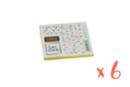 Plaque Linogravure souple 7.8 x 9 cm - Lot de 6 plaques - Linogravure 40223 - 10doigts.fr