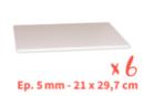 Plaques de carton-plume  21 x 29.7 cm - 6 plaques - Carton Plume et Polystyrène 18396 - 10doigts.fr