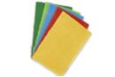 Feutrine épaisse 50 x 75 cm - Couleurs assorties : jaune, rouge, bleu clair, vert clair, vert foncé - Feutrine, feutre, toile de jute 11044 - 10doigts.fr