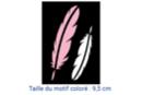 Pochoir adhésif 10 x 7 cm - plumes - Pochoirs Adhésifs 16013 - 10doigts.fr
