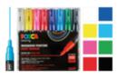 Marqueurs Posca PC1MC pointes très fines, coniques - 8 couleurs vives - Feutres d'écriture 07996 - 10doigts.fr