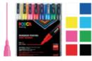 Posca PC3M pointes fines - 8 feutres couleurs vives - Feutres pointes fines 05766 - 10doigts.fr