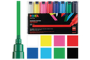 Marqueurs Posca pointes larges - 8 feutres Posca couleurs vives - Feutres pointes larges 05768 - 10doigts.fr