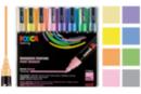 8 marqueurs POSCA pastel  pointes moyennes (1,8 à 2,5 mm) - Marqueurs POSCA 08237 - 10doigts.fr