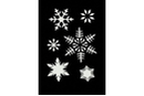 Pochoir adhésif 10 x 7 cm - étoiles  - Pochoirs Adhésifs 33108 - 10doigts.fr