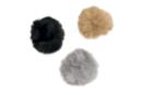 Pompons en fausse fourrure - couleurs gris, taupe, noir - Pompons 36103 - 10doigts.fr