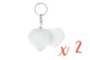 Porte-clés cœurs (5 x 4,8 cm) - Lot de 2 - Plastique Transparent - 10doigts.fr