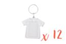 Porte-clés t-shirt (5cm) - Lot de 12 - Plastique Transparent 14051 - 10doigts.fr