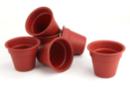 Pots en plastique Ø 7,5 cm - Lot de 6 - Plastique Opaque - 10doigts.fr