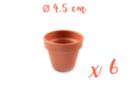 Pots en terre cuite Ø 4,5 cm - Hauteur 4 cm - 6 pots - Supports en Céramique et Terre Cuite - 10doigts.fr