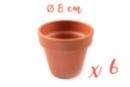 Pots en terre cuite Ø 8 cm - Hauteur 7 cm  - 6 pots - Supports en Céramique et Terre Cuite - 10doigts.fr
