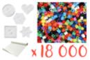 Kit perles vives - 18 000  perles + 5 plaques + 1 rouleau de papier sulfurisé - Kits activités clés en main 15268 - 10doigts.fr