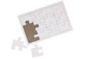 Puzzle 12 pièces en carton blanc - lot de 10 - Puzzles à colorier 40608 - 10doigts.fr